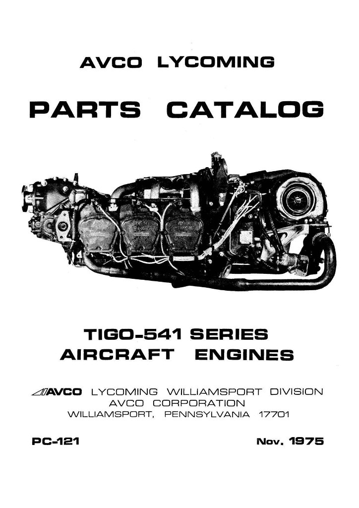 lycoming parts catalog pc