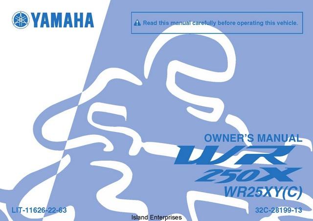 yamaha wr 400 service manual pdf
