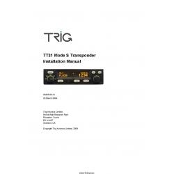 Trig TT31 Mode S Transponder Installation Manual 00455-00-AI $9.95