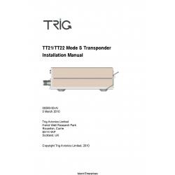 Trig TT21/TT22 Mode S Transponder Installation Manual 00560-00-AI $9.95