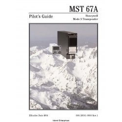MST 67A Mode S Transponder Pilot's Guide 006-18301-0000