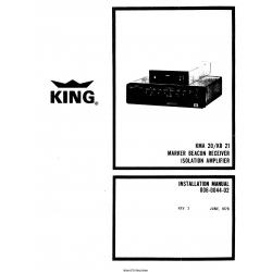 King KMA 20/KR 21 Installation Manual 006-004-02 $13.95