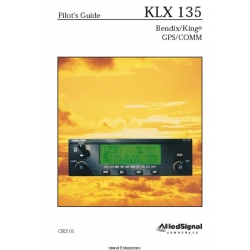 Bendix King KLX 135 Pilot's Guide 006-08751-0000