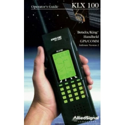 Bendix King KLX 100 Handheld GPSKOMM Operator's Guide 006-08782-0001 $13.95