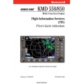 BBendix King KMD 550/850  Flight Information Service Pilot's Guide Addendum 006-18237-0000