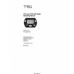 Trig TY91 and TY92 VHF Radio OPerating Manual 00840-00-AC
