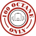 100 Octane Only with Close & Open Aircraft Gas Fuel Placards!
