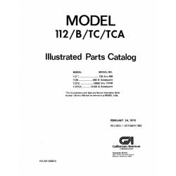 Rockwell Commander 112/B/TC/TCA Parts Catalog $13.95