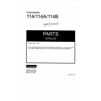 Commander 114 Maintenance Manual