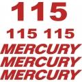 Mercury 115 HP Boat Motor Decal/Sticker!