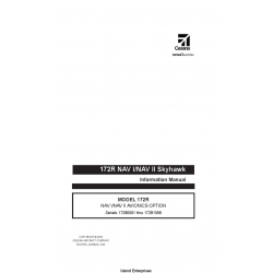 Cessna Model 172R NAV I/NAV II Skyhawk Avionics Option Serial 17280001 thru 17281356 Information Manual 172RIMUS-09