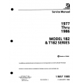 Cessna 182 & T182 Series 1977 thru 1986 Service Manual 1996 D2068-3-13 $29.95
