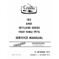 Cessna 182 & Skylane Series 1969 thru 1976 Service Manual D2006C3-13 v1975 $19.95