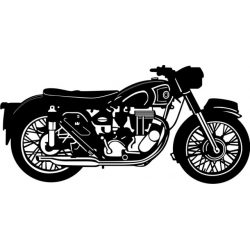 """1954 AJS 500cc Motorcycle Vinyl Sticker/Decal 12"""" wide by 5.76"""" high!"""