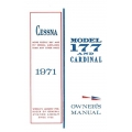 Cessna 177 and Cardinal Owner's Manual 1971 $ 12.95