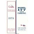 Cessna Model 177 and Cardinal Owner's Manual (1974) D1018-13 $13.95