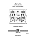 Sigma-Tek 1U619-002-003 Radio Panel Operator's Manual 2002 $2.95