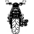 "2007 Harley Davidson Motorcyle Vinyl Sticker/Decal 12"" high"