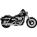 "2007 Harley Dyna Glide Motorcycle Vinyl Sticker/Decal 12"" wide"