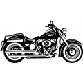 "2007 Harley Softail Motorcycle Vinyl Sticker/Decal 12"" wide"