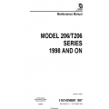Cessna Model 206/T206 Series 1998 and ON Maintenance Manual 206HMM18 $29.95