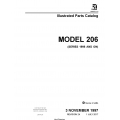 Cessna Model 206 (Series 1998 and ON) Illustrated Parts Catalog 206HPC24 $29.95