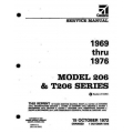 Cessna 206 & T206 Series 1969 thru 1976 Service Manual $19.95