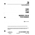 Cessna 210 & T210 Series 1985 thru 1986 Service Manual D2073-2-13  $19.95