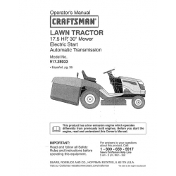 craftsman electric lawn mower manual