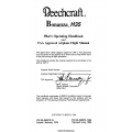 Beechcraft Bonanza H35 Pilot's Operating Handbook & FAA Approved Airplane Flight Manual (35-590073-15) (35-590073-15A4) $ 29.95