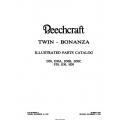 Beechcraft Twin-bonanza D50,  D50A,  D50B, D50C F50, G50, H50 1984 Parts Catalog $19.95