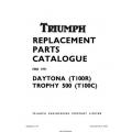 Triumph Daytona (T100R) Trophy 500 (T100C) Replacement Parts Catalogue 1971 Part No. 99-0934