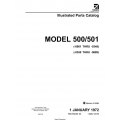 Cessna 500 Illustrated Parts Catalog 500PC33 $29.95
