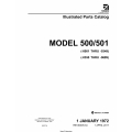 Cessna Model 500/501 (-0001 thru -0349) (-0350 thru -0689) Illustrated Parts Catalog 500PC34 $35.95