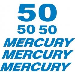 Mercury 50 HP Boat Motor Decal/Sticker!