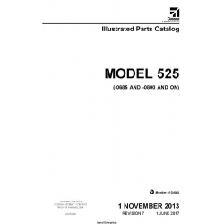 Cessna Model 525 (-0685 And -0800 And On) Illustrated Parts Catalog 525PCC07 $35.95