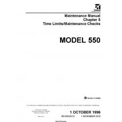 Cessna Model 550 Maintenance Manual Time Limits/Maintenance Checks 55BCH-22 $29.95