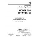 Cessna Model 550 Citation II Airplane Flight Manual 55FM-S16-39 $19.95