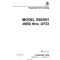 Cessna Model 550/551 (-0002 thru -0733) Illustrated Parts Catalog 55PC30 $35.95