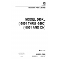 Cessna Model 560XL (-5001 thru -5500) (-5501 and ON) Illustrated Parts Catalog 56XPC36 $29.95