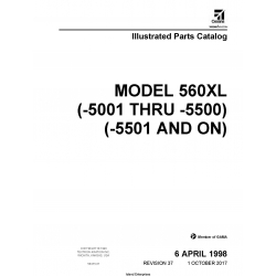 Cessna Model 560XL (-5001 thru -5500) (-5501 and ON) Illustrated Parts Catalog 56XPC37 $35.95