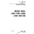 Cessna Model 560XL (-5001 thru -5500)(-5501 and ON) Illustrated Parts Catalog 56XPC39 $35.95