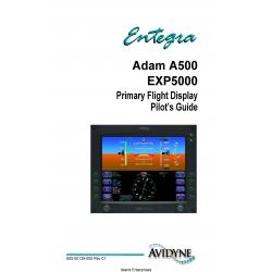 Avidyne Adam A500 EXP5000 Primary Flight Display Pilot's Guide 600-00139-000 Rev 1  $9.95