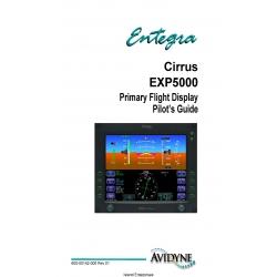 Avidyne Cirrus EXP5000 Primary Flight Display Pilot's Guide 600-00142-000 Rev 01 $9.95