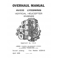 Lycoming Overhaul Manual 60294-8-3 Vertical Helicopter  VO-IVO-360 VO-TVO-435 VO-IVO-TIVO-540 $13.95