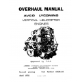 Lycoming Overhaul Manual 60294-8 VO-360, IVO-360, VO-435, TVO-435, VO-540, IVO-540 & TIVO-540 Vertical Helicopter Engines $13.95