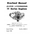 Lycoming Overhaul Manual 60294-9-2 76 Series Engines O-320H O-LO-360-E $13.95