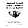 Lycoming 76 Series Engines Overhaul Manual 1977 Part No. 60294-9