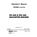Lycoming Operator's Manual Part # 60297-11 VO-360 & IVO-360 1999 (2nd Edition) $13.95