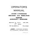 Lycoming Operator's Manual Part # 60297-15-1 IGO-IGSO-540 Series $13.95